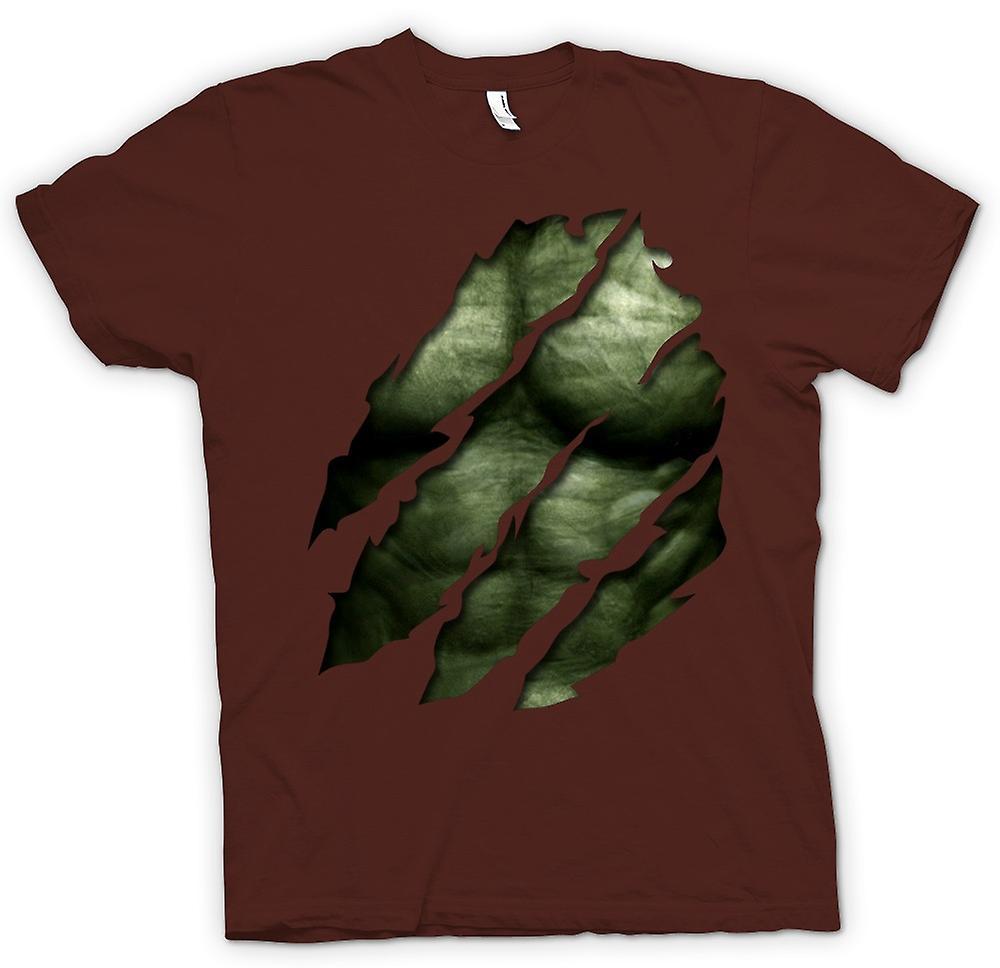 Heren T-shirt - de Hulk - geript Effect