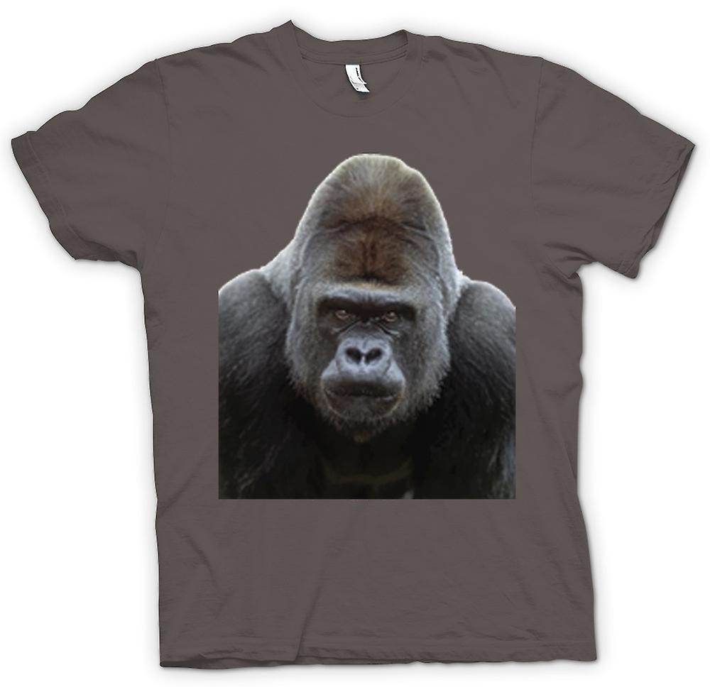 Herr T-shirt-Gorilla Silverback porträtt