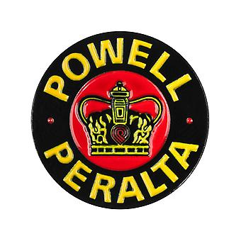 Powell Peralta Yellow Supreme Lapel Pin Badge