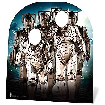 Cyberman Army Child Size Doctor Who Cardboard Cutout Stand-in / Standee