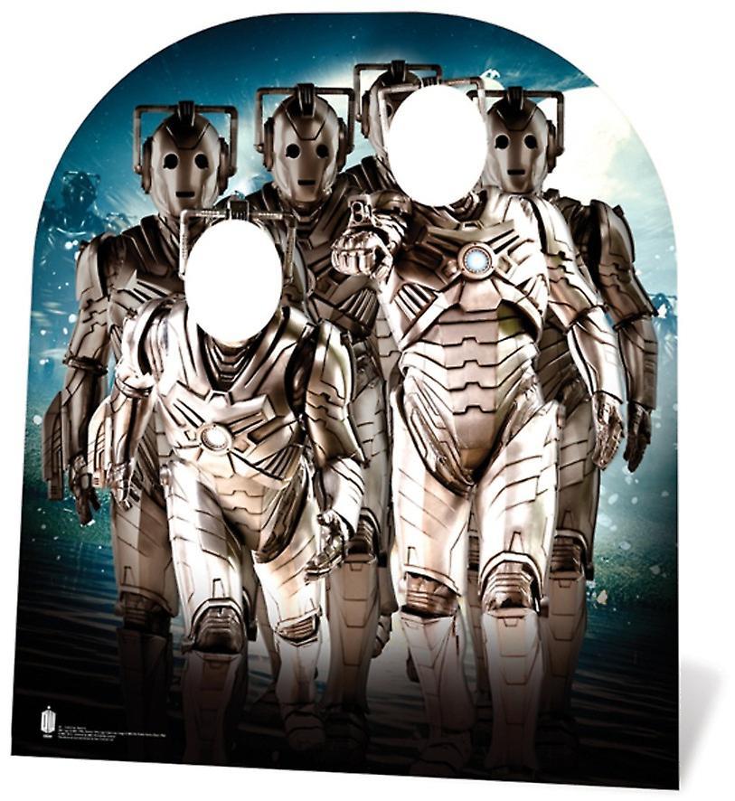 CyberMan armén barn storlek Doctor Who kartong släppandet Stand-in / stående