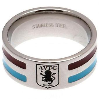 Aston Villa Colour Stripe Ring Medium
