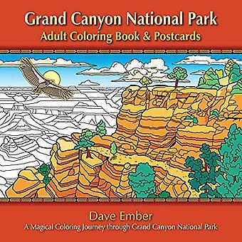 Cartes postales et livre à colorier adulte grand Canyon National Park