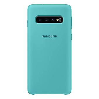 Samsung silicone cover green for Samsung Galaxy S10 G973F EF PG973TGEGWW bag case protective cover