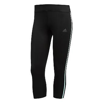 Adidas Response 3/4 Womens kör Fitness Capri Tight svart/Mint
