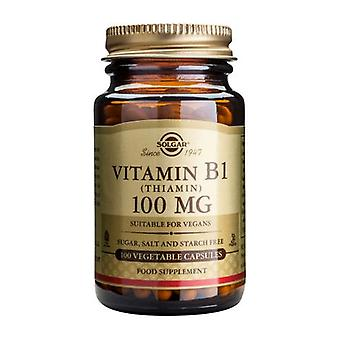Solgar Vitamin B1 (Thiamin) 100 mg Vegetable Capsules, 100