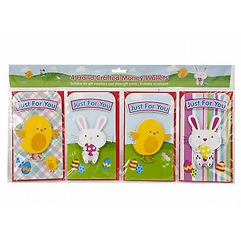 Easter Card Money Voucher Wallets Gift Giving Children Bunny Chick Pack of 12 (736057)