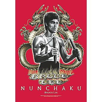 Bruce Lee Nunchaku Large Fabric Poster/Flag 1050mm x 750mm (hr)