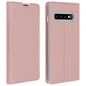 Slim flip wallet case, Business series for Samsung Galaxy S10 Plus - Rose gold