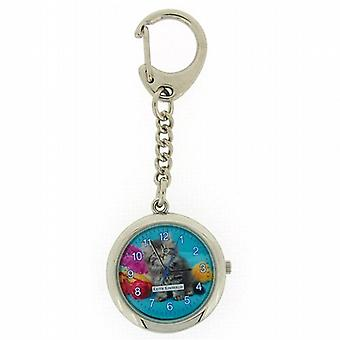 Keith Kimberlin Pussy Cat Blue Dial Ladies Keyring Watch KK12