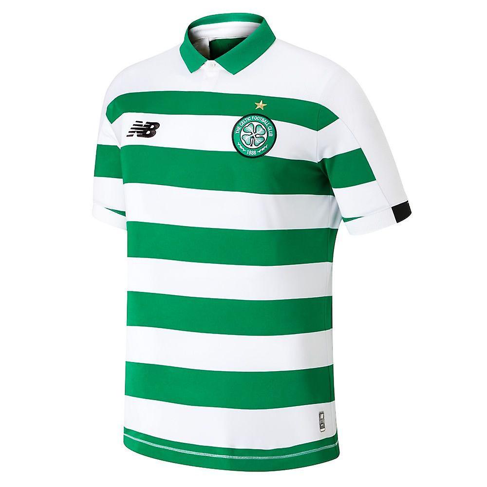 nouveau   Celtic FC 2019 20 Enfants Home Football Shirt Jersey blanc vert