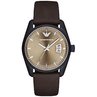 Emporio Armani Ar6081 sport rotondo cinturino in pelle marrone orologio da uomo