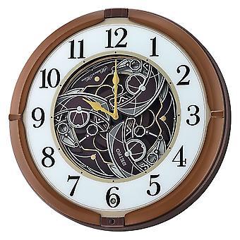 Seiko Melodies in Motion Wall Clock - Metallic Brown (QXM380B)