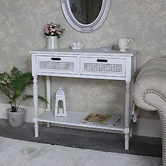 Antique White 2 Drawer Console Table � Mia Range