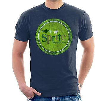 Enjoy Sprite 1960s Green Bottlecap Men's T-Shirt