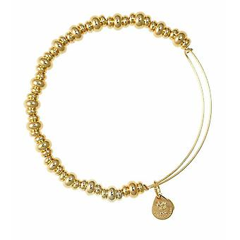 Alex en Ani Nile kralen goud Bangle BBEB16YG