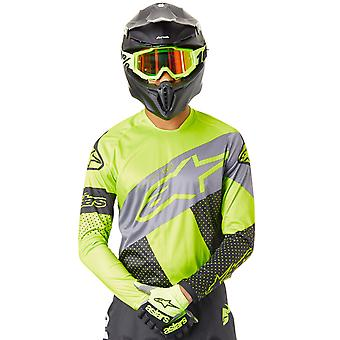 Alpinestars Black-Yellow-Grey 2019 Racer Tech Atomic MX Jersey