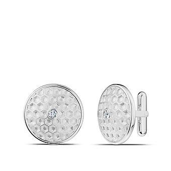 PGA Tour Diamond Accented Golf Ball Pattern Cuff Links