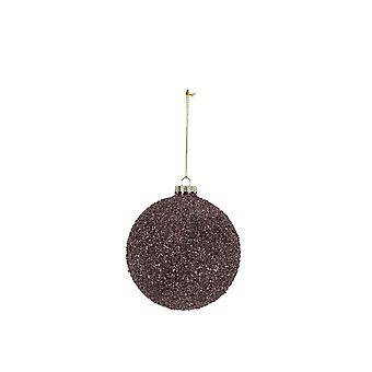 Light & Living Christmas Bauble Round Ø10 Cm BALL Glass Purple Glitter