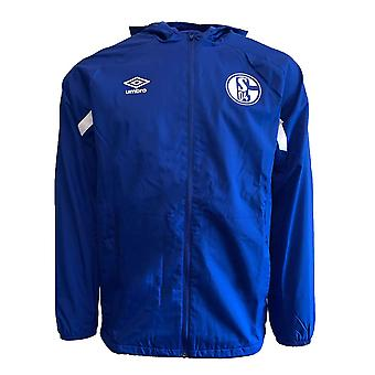 2019-2020 Schalke Umbro Shower Jacket (Blue)