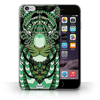STUFF4 Case/Cover for Apple iPhone 6S+/Plus/Tiger-Green/Aztec Animal