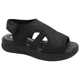 Remonte svart stretch panel öppen sandal