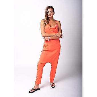 Jools jersey jumpsuit in coral