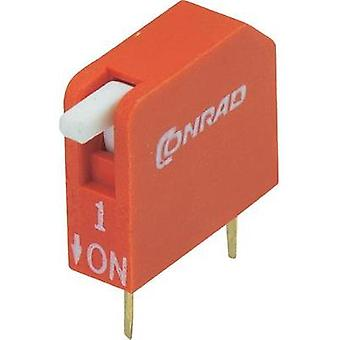 DIP switch Number of pins 1 Piano-type TRU COMPONENTS DP-01