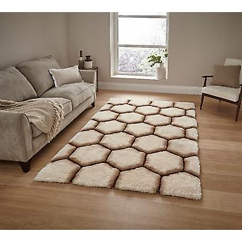 Nobel House 30782 30782 Rectangle brun crème tapis tapis Funky