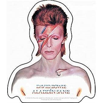 David Bowie Aladdin Sane vinyl sticker 100mm x 100mm  (cv)