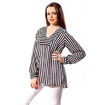Black and white stripe tunic