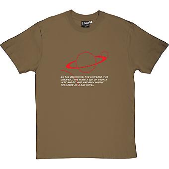 Hitch-Hikers' Guide In The Beginning Men's T-Shirt