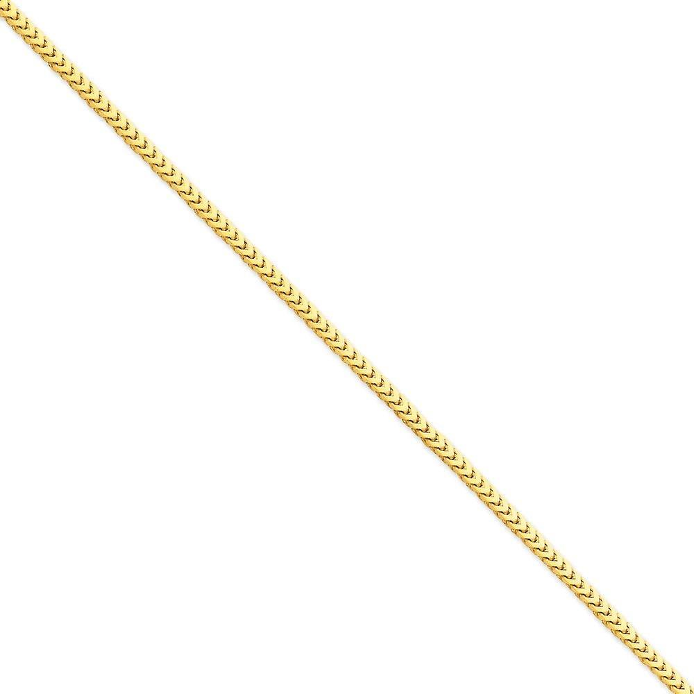14k 3mm collier de chaîne Franco - longueur  18 à 24