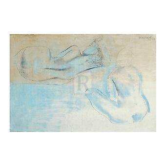Two Figures by the Sea Poster Print by Barbara Hepworth (34 x 24)