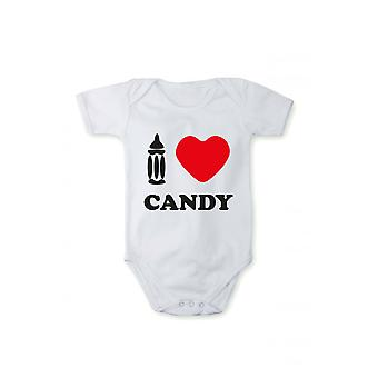 Baby body with pressure I love sweets in various languages
