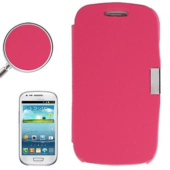 Cell phone cover case voor Samsung Galaxy S3 mini i8190 / i8195 / i8200 roze geborsteld