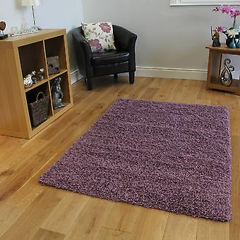 Fluffy Purple Mauve Kids Bedroom Shaggy Rug