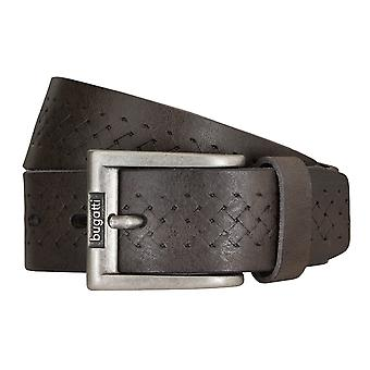 Bugatti belts men's belts leather belt cowhide mud/Brown 5219