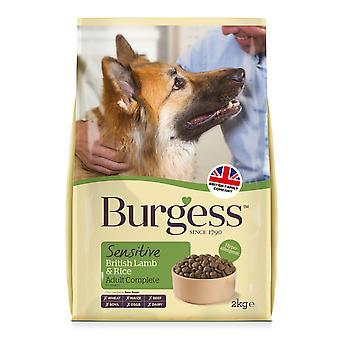 Burgess følsomme voksen hund lam & ris 2kg