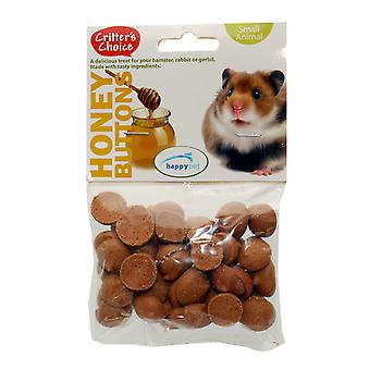 Critter's Choice Honey Buttons 40g (Pack of 6)