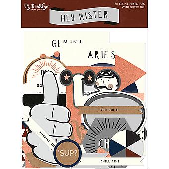 Hey Mister Mixed Bag Cardstock Die-Cuts 50/Pkg-W/Copper Foil MAN115
