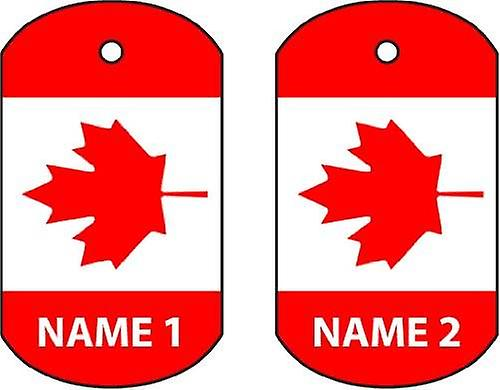 Personalised Canada Dog Tag Car Air Freshener
