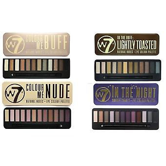 W7 Eyeshadow Palettes- (Colour Me Buff' + Colour Me Nude + In the Night + Lightly Toasted)