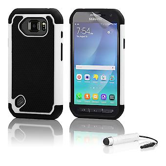 Shock proof case + stylus for Samsung Galaxy S6 Active (SM-G890) - White