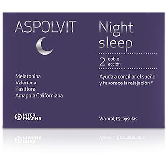 Aspolvit Night Sleep 15 capsules (Vitamins & supplements , Multinutrients)