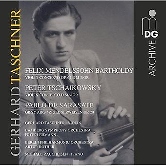 Gerhard Taschner - Mendelssohn Batholdy: Violin Concerto; Tschaikowsky: Violin Concerto; Sarasate: Gipsy Airs [CD] USA import