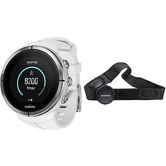 Suunto petto bianco Ultra spartana Heart Rate Monitor Watch Unisex SS022660000