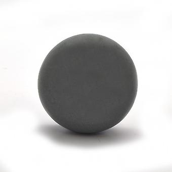 Flat Dark Grey Ceramic Cupboard Knob