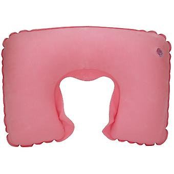 TRIXES Pink Inflatable Neck Travel Pillow Head Rest Cushion for Holiday Flights & Sleeping