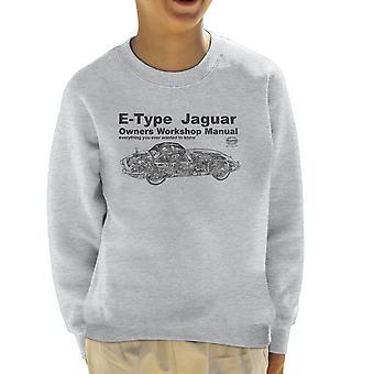 Haynes Owners Workshop Manual Jaguar E Type Black Kid's Sweatshirt